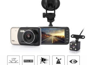 4″ Dual Lens 1080P FHD 1.0MP Dash Camera Car DVR