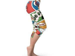 Womens Comic Book Capri Leggings